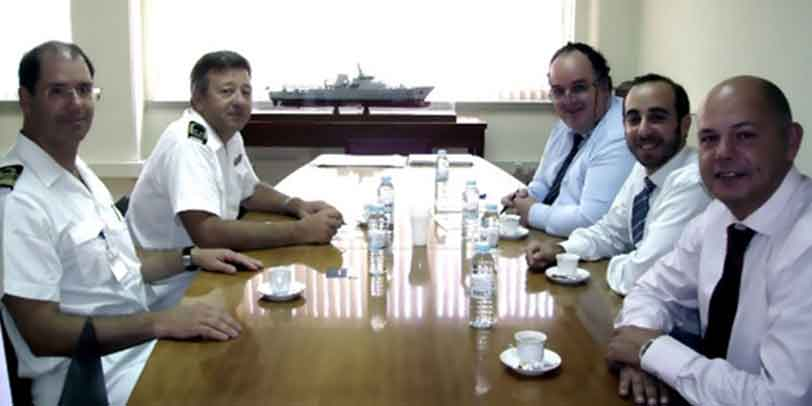 Dr. Jorge Antunes in a meeting with the Portuguese Navy